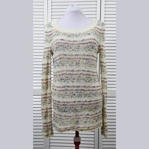 Anthropologie Moth Marled Open Weave Sweater